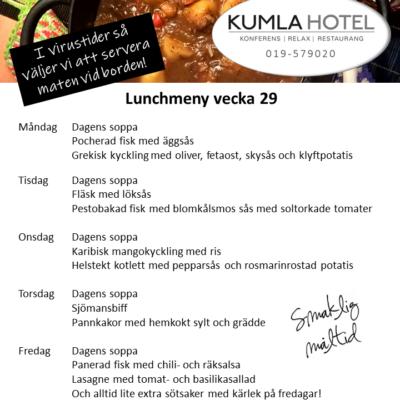 Lunchmeny vecka 29