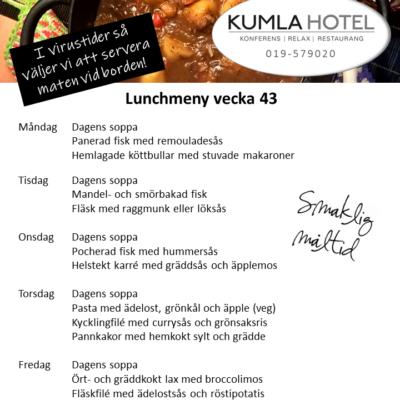 Lunchmeny vecka 43