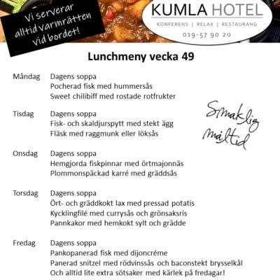 Lunchmeny vecka 49