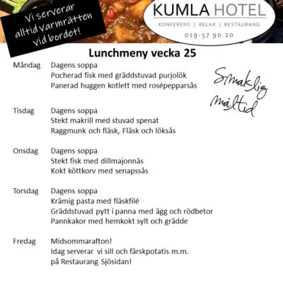Lunchmeny vecka 25