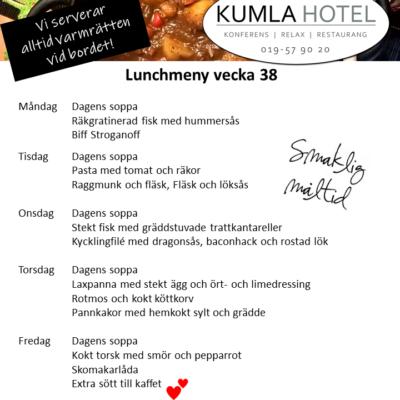 Lunchmeny vecka 38